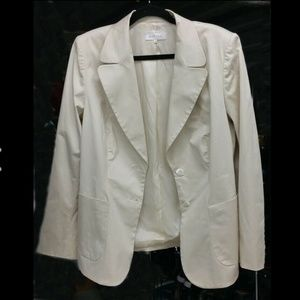 ESCADA Eggshell White Jacket Blazer Rayon Sz 44 LG